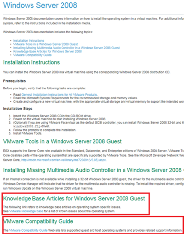 VMware Guest Operating System Installation Guide gets an Online