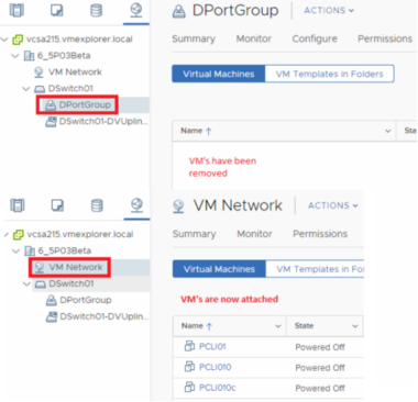 vCenter Server 6 5 – Migrate VMs from Virtual Distributed